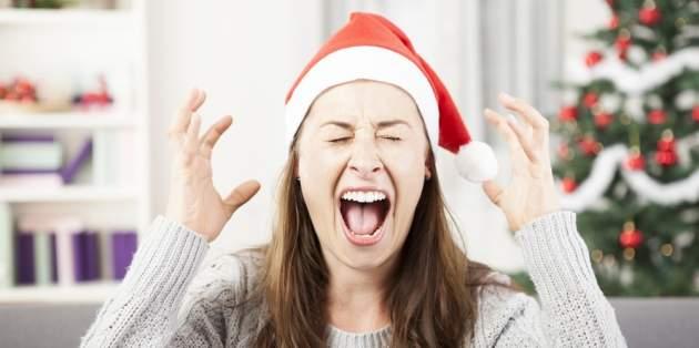 Žena na Vianoce
