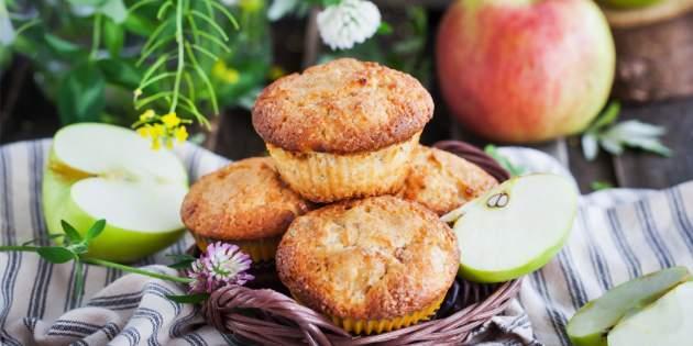 Chutné jablkové muffiny