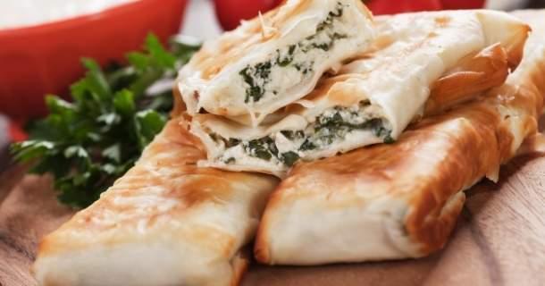 Turecký syrový koláč – borek