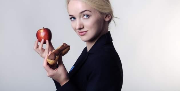 Žena s potravinami