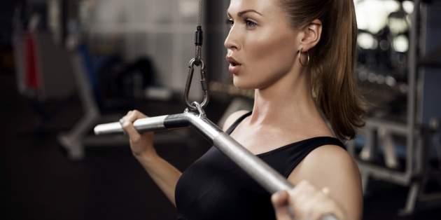Cvičiaca žena