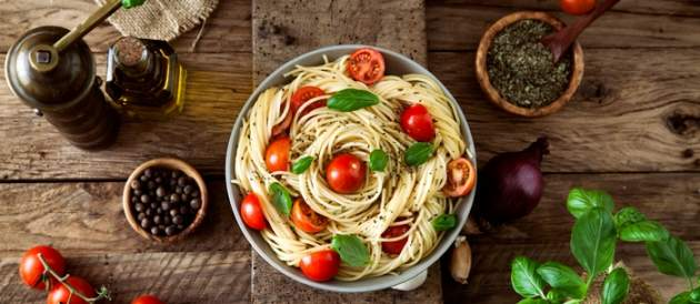 Špagety zo zeleninou