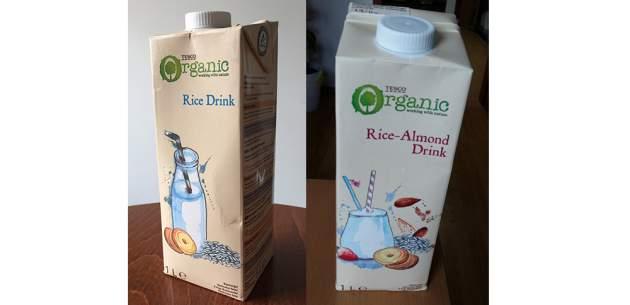 Rice Drink (Ryžový nápoj) a Rice-almond Drink (Ryžovo-mandľový nápoj)