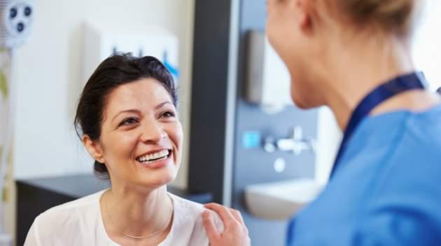 Spokojná pacientka v ordinácii