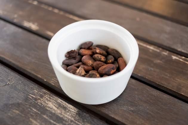 Surové kakaové bôby
