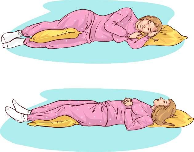 Zdravé polohy na spanie