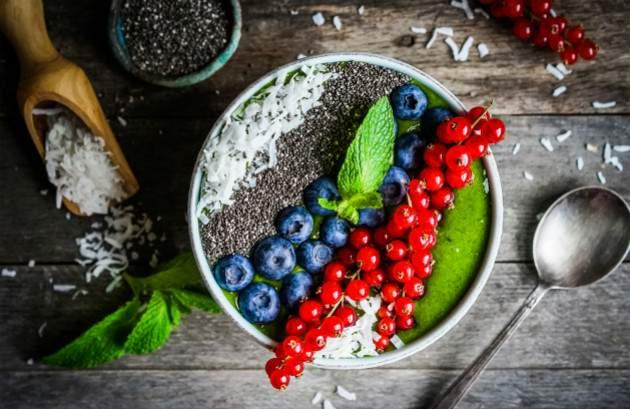 Jedlo s chia semienkami