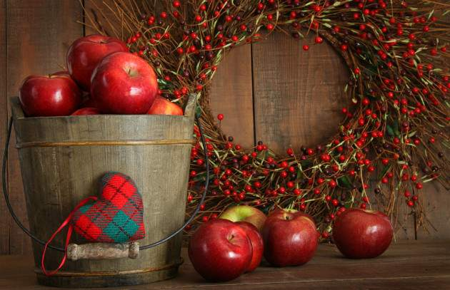 Červené jablko a Vianoce