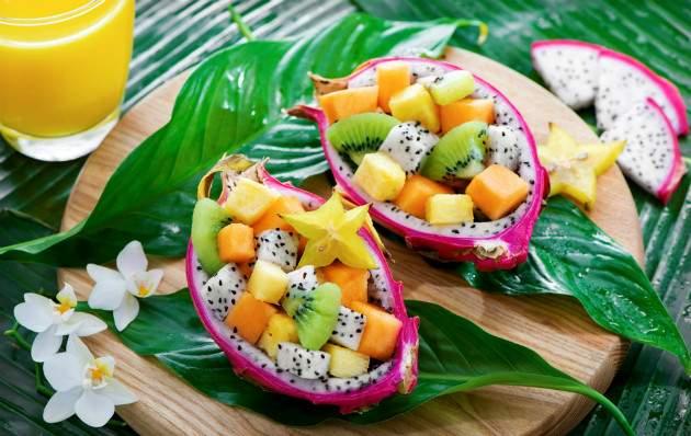 Pitahaya - ovocný šalát