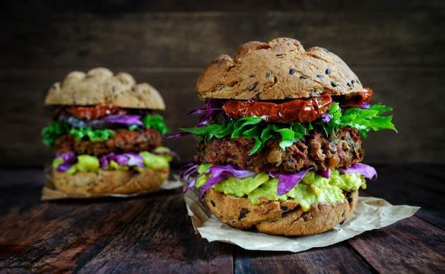 Šošovicovo - hubové burgery