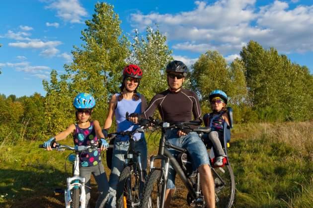 bicyklovanie a rodina