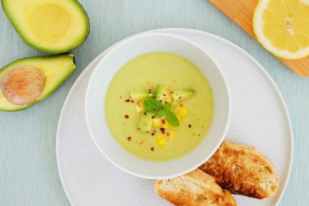 Fotorecept: avokádová polievka