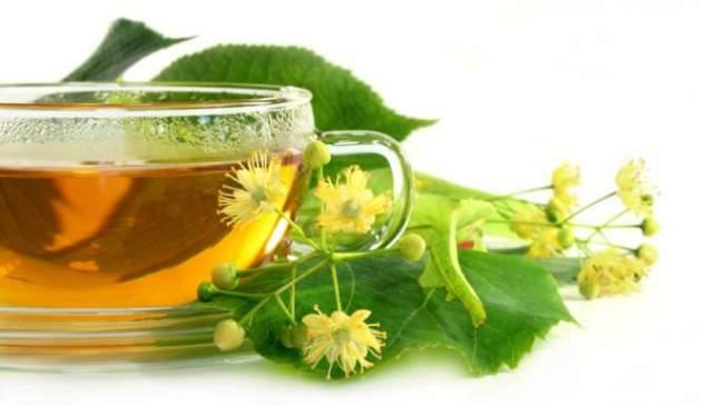 Lipový kvet a čaj