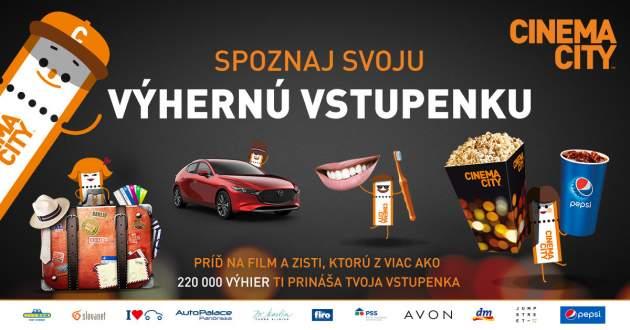 Veľká letná súťaž so Cinema City Slovensko