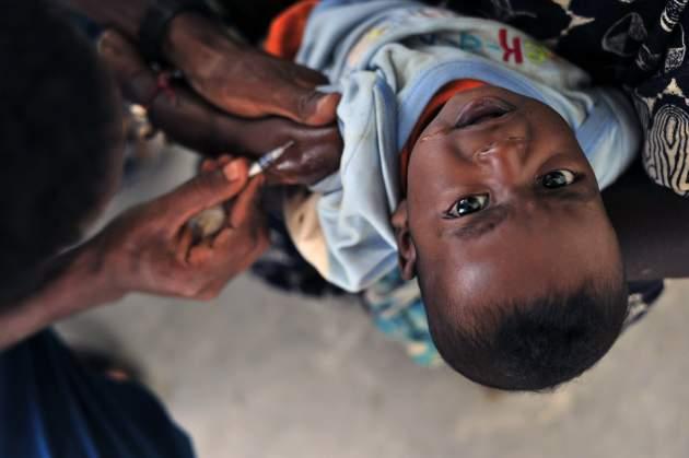 očkované dieťa v Sudáne