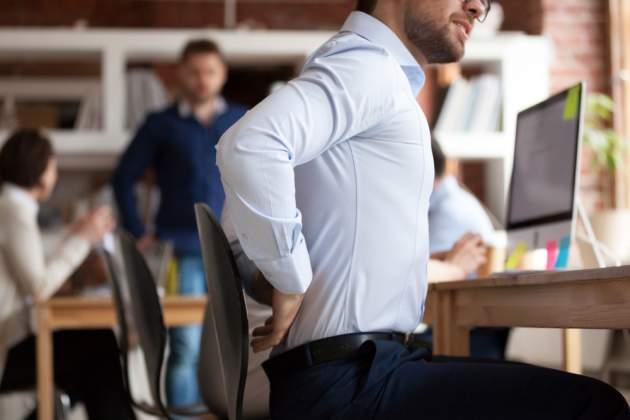 sedavé zamestnanie a bolesť chrbtice
