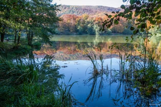 hladina jazera