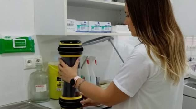 potrubná pošta na prepravu laboratórnych vzoriek