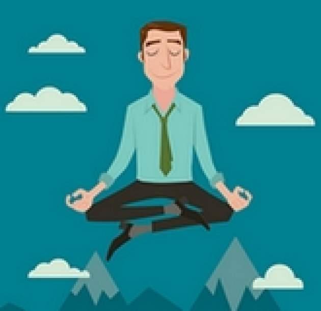 Meditujúci muž