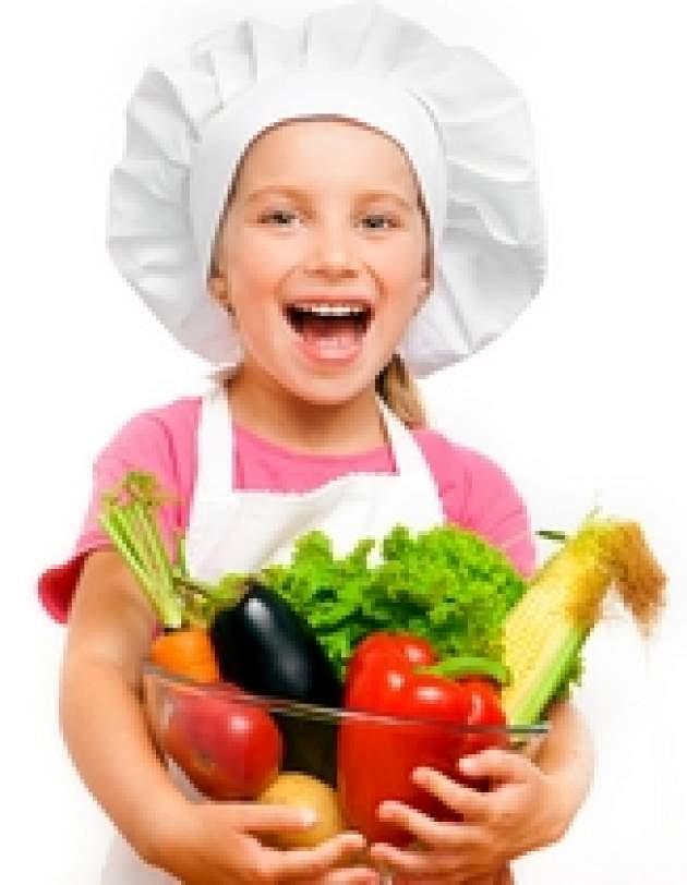 Dievčatko so zeleninou
