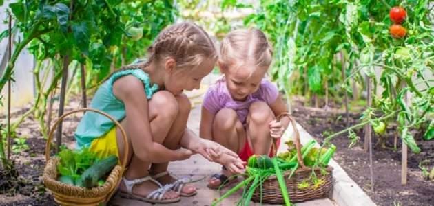 Dievčatá v záhrade