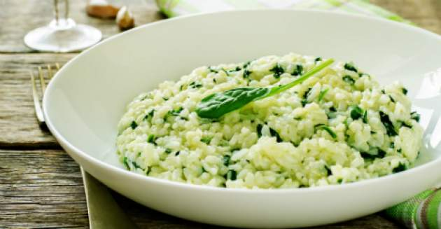 Špenátová ryža