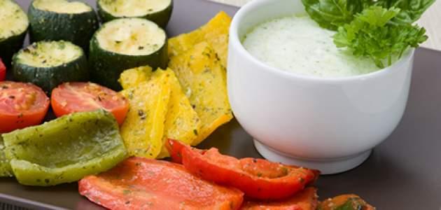 Zelenina s chrenovým dresingom