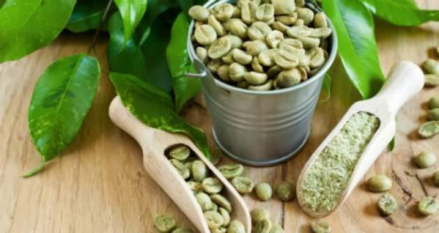 zrná zelenej kávy