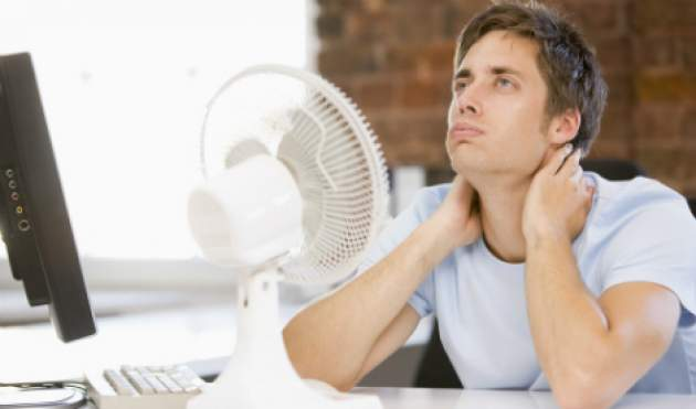 Muž s horúčavou