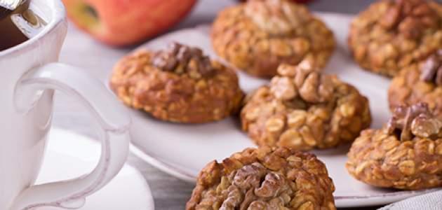 Orechovo-jablkové cookies