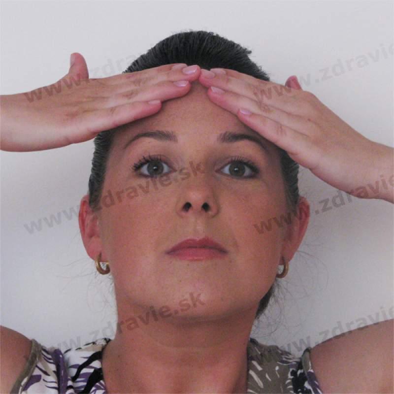 Tvárová gymnastika - cvik na čelo