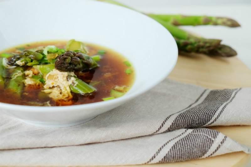 Fotorecept: polievka zo zelenej špargle
