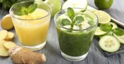 Detoxikačný džús zo zázvoru a uhorky