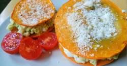 Hokkaido toasty plnené avokádovo-vajíčkovou plnkou