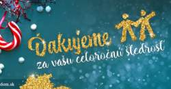 Darcovský portál dosiahol v roku 2016 niekoľko rekordov: Suma darovaných eur prekročila 2 630 000 eur!