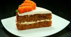 Mrkvový koláč s orechami