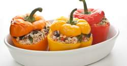 Plnené grilované papriky