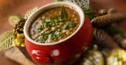 Horehronská vianočná šošovicová polievka
