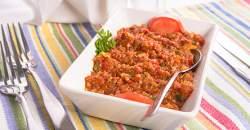 Orechová kaša s paradajkami