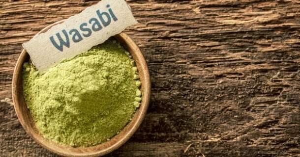 Pikantné wasabi obsahuje veľa vlákniny a má antibakteriálne účinky