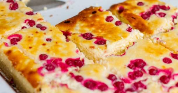 Brusnicový koláč