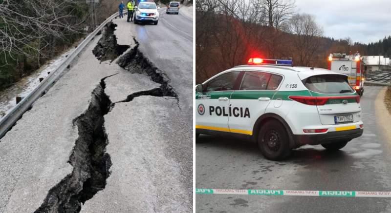 Víchrica opäť pustošila Slovensko: polícia hlási prepadnutú cestu, aj betónové stĺpy na ceste!